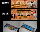 One Direction Set of 12 Personalized Candy Bar Wrappers Party Favors-Style 13