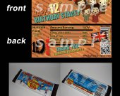 One Direction Set of 12 Personalized Candy Bar Wrappers Party Favors-Style 18