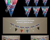 One Direction 6 Triangle Pennant Banner - Style 2