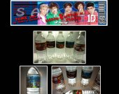 One Direction Set of 15 Water Bottle Labels - Make Great Party Favors - Style 2