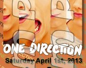 One Direction Ticket Style Personalized Party Invitations - Style 9