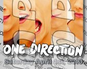 One Direction Ticket Style Personalized Party Invitations - Style 11