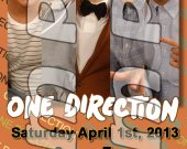 One Direction Ticket Style Personalized Party Invitations - Style 13