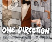 One Direction Ticket Style Personalized Party Invitations - Style 15