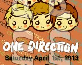 One Direction Ticket Style Personalized Party Invitations - Style 17