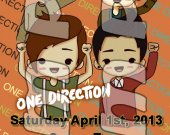 One Direction Ticket Style Personalized Party Invitations - Style 18