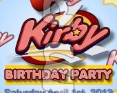 Kirby Ticket Style Personalized Party Invitations - Style 1