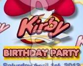 Kirby Ticket Style Personalized Party Invitations - Style 2