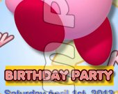 Kirby Ticket Style Personalized Party Invitations - Style 3