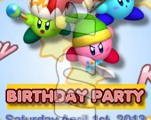Kirby Ticket Style Personalized Party Invitations - Style 5
