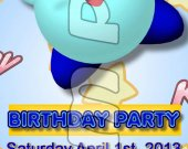 Kirby Ticket Style Personalized Party Invitations - Style 6
