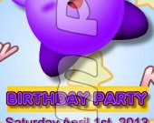 Kirby Ticket Style Personalized Party Invitations - Style 7