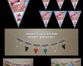 Kirby 6 Triangle Pennant Banner