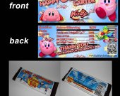 Kirby Set of 12 Personalized Candy Bar Wrappers Party Favors