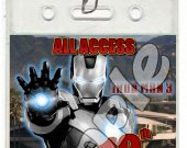 Iron Man 3 Set of 12 VIP Party Invitation Passes or Party Favors - Style 2