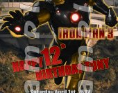 Iron Man 3 Personalized 4x6 Birthday Party Invitations - Style 1
