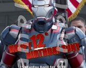 Iron Man 3 Personalized 4x6 Birthday Party Invitations - Style 4