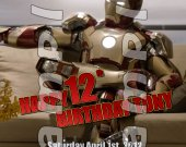 Iron Man 3 Personalized 4x6 Birthday Party Invitations - Style 5