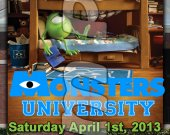 Monsters University Ticket Style Personalized Party Invitations - Style 3