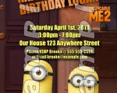 Despicable Me 2 Personalized 4x6 Birthday Party Invitations - Style 1
