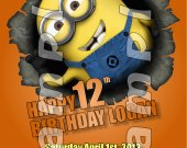 Despicable Me 2 Personalized 4x6 Birthday Party Invitations - Style 3