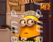 Despicable Me 2 Personalized 4x6 Birthday Party Invitations - Style 2