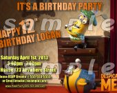 Despicable Me 2 Personalized 4x6 Birthday Party Invitations - Style 4