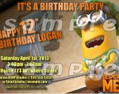 Despicable Me 2 Personalized 4x6 Birthday Party Invitations - Style 5