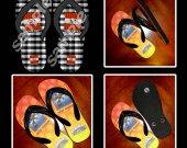 Minecraft TNT Flip Flops Sandals (Youth Sizes)