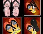 Minecraft Pig Flip Flops Sandals (Youth Sizes)