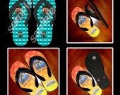 Minecraft Steve Flip Flops Sandals (Youth Sizes)
