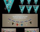 Minecraft Steve 6 Triangle Pennant Banner