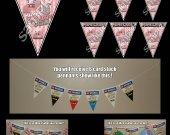 Minecraft Pigman 6 Triangle Pennant Banner