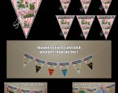 Minecraft Pigman Zombie 6 Triangle Pennant Banner