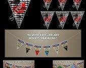 Minecraft Spider 6 Triangle Pennant Banner