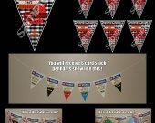 Minecraft TNT 6 Triangle Pennant Banner