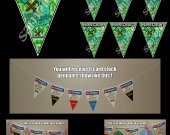 Minecraft Pick Axe 6 Triangle Pennant Banner