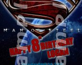 Man of Steel Personalized 4x6 Birthday Party Invitations - Style 1