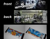 Call of Duty Ghosts Set of 12 Personalized Candy Bar Wrappers Party Favors - Style 3