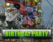 Plants vs. Zombies 2 Ticket Style Personalized Party Invitations-Style 3