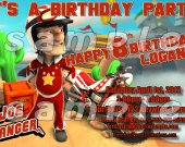Joe Danger Personalized 4x6 Birthday Party Invitations - Style 1