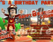 Joe Danger Personalized 4x6 Birthday Party Invitations - Style 2