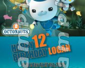 Octonauts Personalized 4x6 Birthday Party Invitations - Style 1