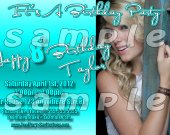 Taylor Swift Personalized 4x6 Birthday Party Invitations - Style 2