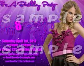 Taylor Swift Personalized 4x6 Birthday Party Invitations - Style 4