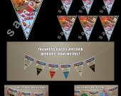 Cloudy with a Chance of Meatballs 6 Triangle Pennant Banner