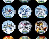Skylanders Swap Force Set of 12 2.5-Inch Round Personalized Stickers or Cupcake Toppers - Set 6