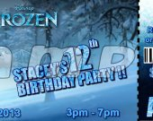 Frozen Ticket Style Personalized Party Invitations - Style 3