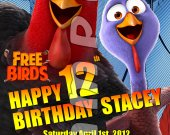 Free Birds Personalized 4x6 Birthday Party Invitations