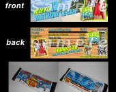 Teen Beach Movie Set of 12 Personalized Candy Bar Wrappers Party Favors - Style 3